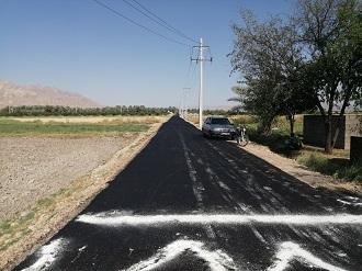 با نیک اندیشی کشاورزان؛  اتمام مرمت و آسفالت جاده بین مزارع در قیروکارزین