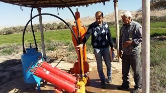 پرداخت کمک های بلاعوض به مجریان آبیاری نوین در قیروکارزین