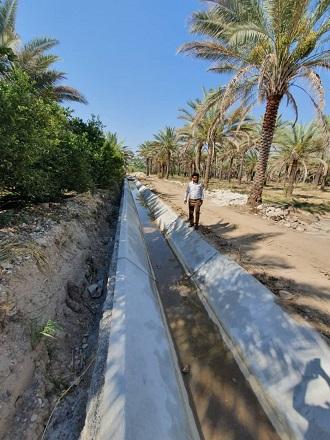 کانال آبیاری بیان قیروکارزین در آستانه بهره برداری است